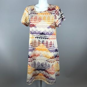 LuLaRoe Carly Faire Isle Aztec Woven Dress Large